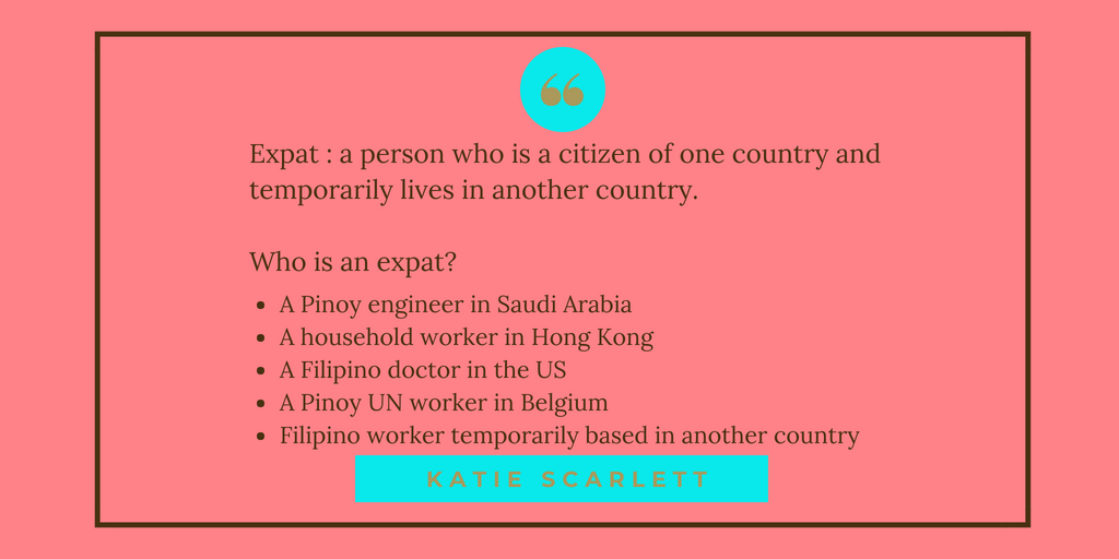 Who is an expat?
