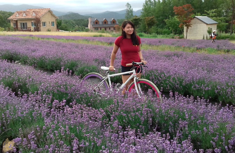 Me amidst lavender shrubs