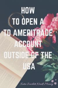 Open TD Ameritrade pin