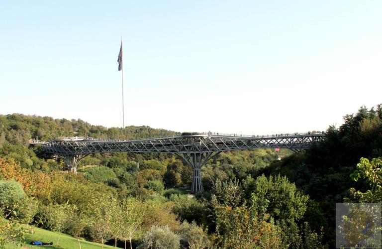 The Tabiat Bridge from Abo Atash Park