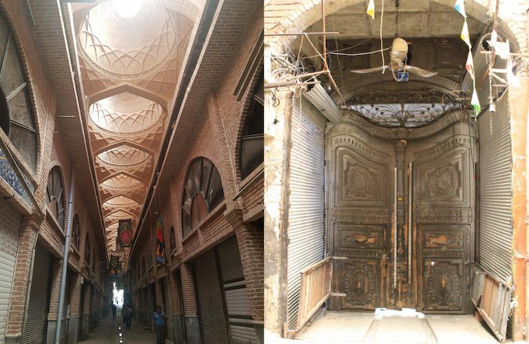 The empty Grand Bazaar and an ancient, unrestored door