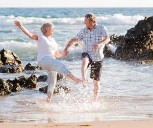 Retirees having fun