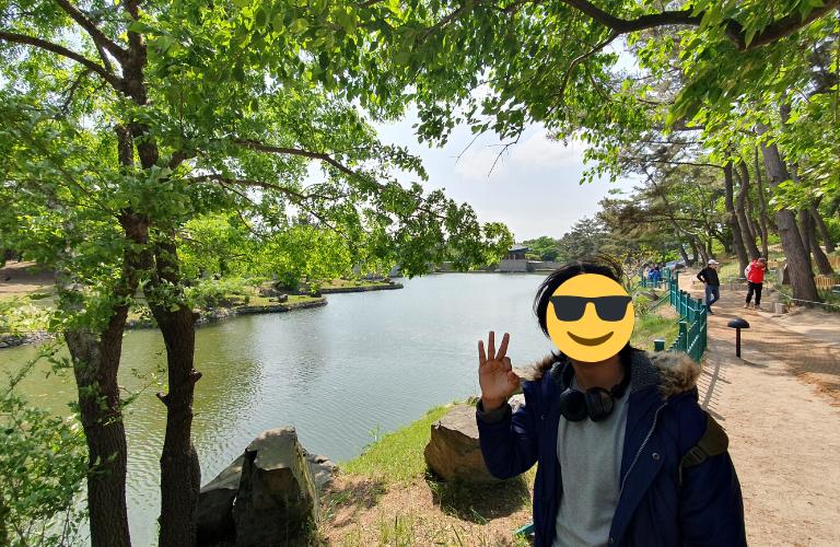 Wolji Pond in spring