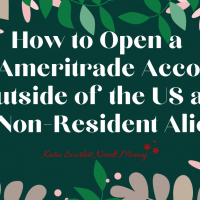 TD Ameritrade Account Outside of the US